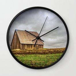 Rustic Barn on the Hill Wall Clock