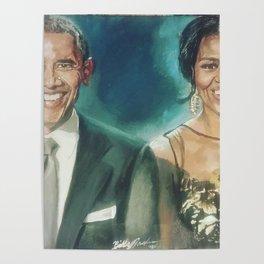 Barack & Michelle Obama Poster