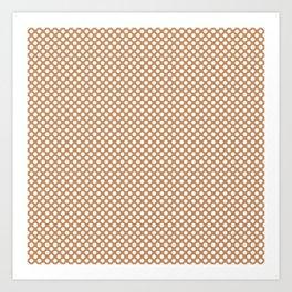 Butterum and White Polka Dots Art Print