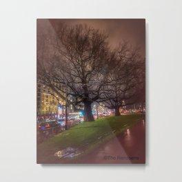Trees at the Leidsesquare Metal Print