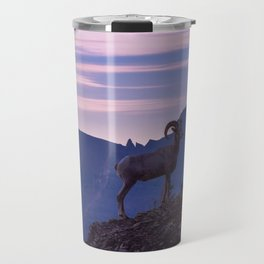Bighorn At Sunrise Travel Mug