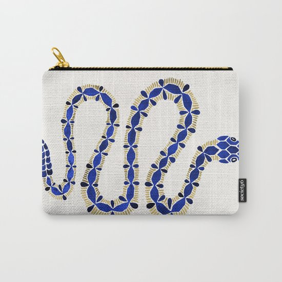 Navy & Gold Serpent Carry-All Pouch