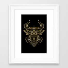 Taurus Gold Framed Art Print