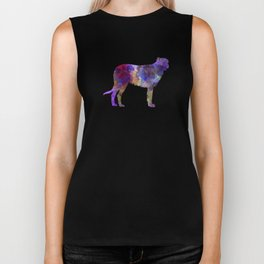 Irish Wolfhound in watercolor Biker Tank