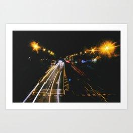 madrid likes night Art Print