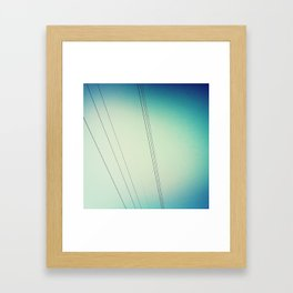 Power lines.  Framed Art Print