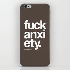 Fuck Anxiety iPhone & iPod Skin