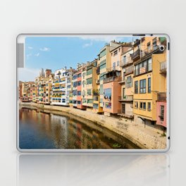 Colorful houses and reflected in water in Girona Laptop & iPad Skin