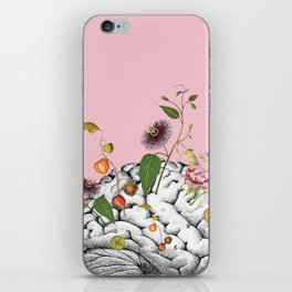 Brain Flowers Collage iPhone Skin