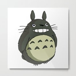 totoroo coloured smile Metal Print
