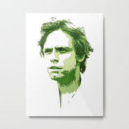 Luke Skywalker (Green) Metal Print