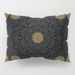 """Black & Gold Arabesque Mandala"" Pillow Sham"