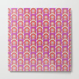 Rainbow Eights, Because 8 is Great Optical Illusion Metal Print