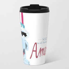 A Salute to All Nations, but Mostly America Travel Mug