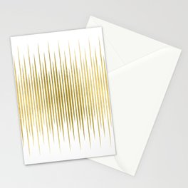 Linear Gold Stationery Cards