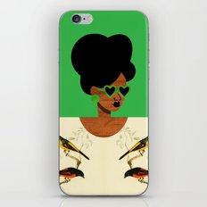 Green Postcard Fashion iPhone & iPod Skin