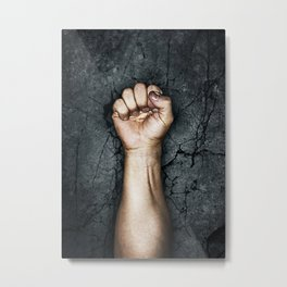 Protest fist Metal Print