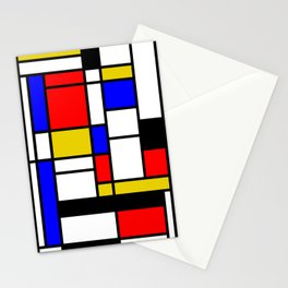 Art work inspired to P. Mondrian (n.1) Stationery Cards
