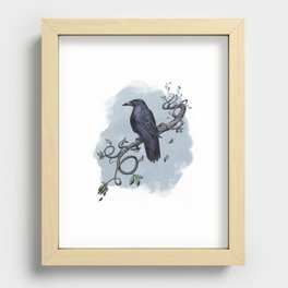 Carrion Crow Recessed Framed Print