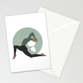 Yoga Girl Green Stationery Cards
