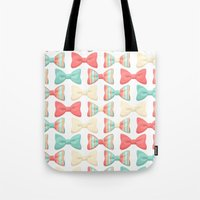 bows Tote Bags featuring bows by melazerg