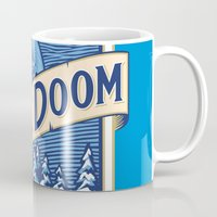 doom Mugs featuring Blue Doom by Moysche Designs