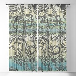 Swirl and Curl Sheer Curtain