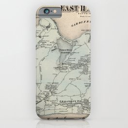 Map of East Hampton 1873 iPhone Case