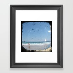 Sand & Surf - Through The Viewfinder (TTV) Framed Art Print
