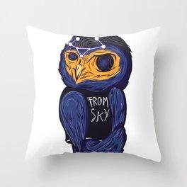 Space owl Throw Pillow