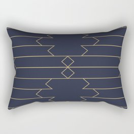 Minimalist Art Deco Style Rectangular Pillow