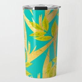 Gold & Teal Florals #society6 #decor #buyart Travel Mug