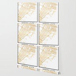 JERSEY CITY NEW JERSEY STREET MAP ART Wallpaper
