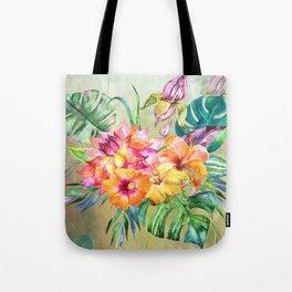 Tropical Hibiscus Garden Tote Bag