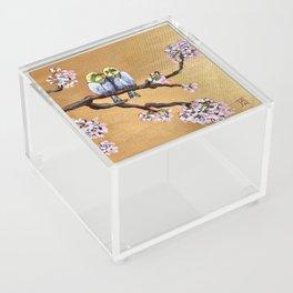 Cherry Blossom Chicks Acrylic Box
