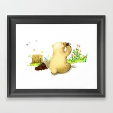 Coffee Bear Framed Art Print