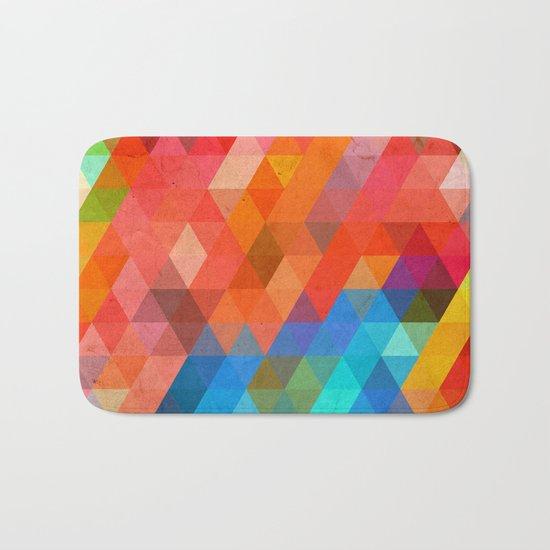 Color Triangles Bath Mat