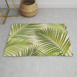 Palms on Cream Rug