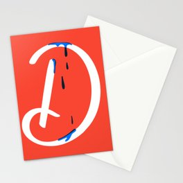 Dripping letter D Stationery Cards