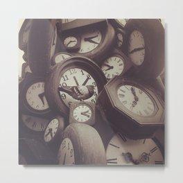Clock Clok Clock Metal Print