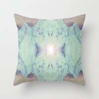 crystal Throw Pillows featuring Crystal by Margit
