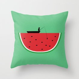 Watermelon Fisher Throw Pillow