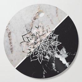 Yin Yang Mandala on Marble #1 #decor #art #society6 Cutting Board