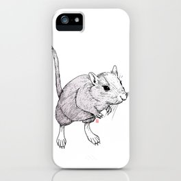 Gerbil On iPhone Case