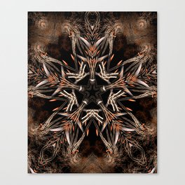 Fractal Organic Star Canvas Print