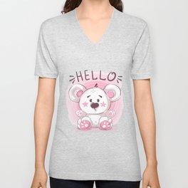 Cutiest Teddy Bear Unisex V-Neck