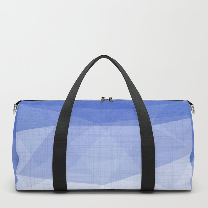 Imperial Lapis Lazuli - Triangles Minimalism Geometry Duffle Bag