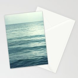 Seascape Photography, Teal Ocean Art, Dark Turquoise Minimal Sea Photo, Blue Ocean Coastal Print Stationery Cards