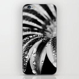 flower bw iPhone Skin