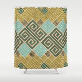 Meander Pattern - Greek Key Ornament #6 Shower Curtain